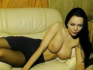 Big Tits Boobs Brunette Nylon Solo Stocking Webcam