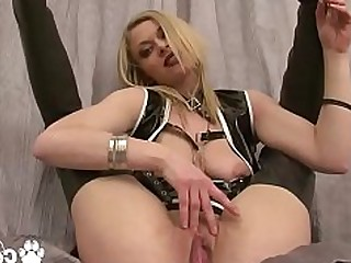 Big Tits Blonde Bus Busty Dildo Fingering Flexible Homemade