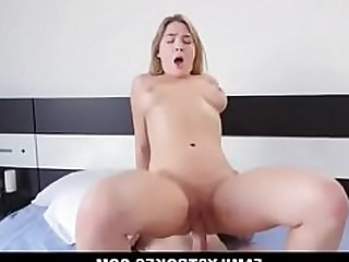Big Tits Blonde Daddy BBW Fuck Natural Teen